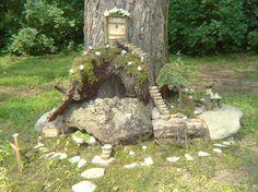 Fairy Tree, Forest Fairy, Fairy Land, Fairy Garden Houses, Gnome Garden, Fairy Gardens, Miniature Gardens, Fairies Garden, Garden Gate