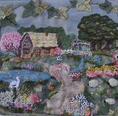 I ❤ crazy quilting & embroidery . . . Gerry's block ~By Pinyon Creek Stitchin'