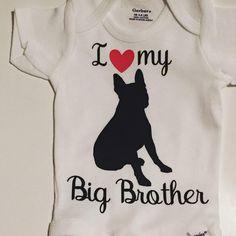 Custom Baby Bodysuit - Custom Christmas Baby Bodysuit - Custom Baby Clothing - Boston Terrier Onsie - Baby Brother  Bodysuit - dog - http://www.babies-clothes.info/custom-baby-bodysuit-custom-christmas-baby-bodysuit-custom-baby-clothing-boston-terrier-onsie-baby-brother-bodysuit-dog.html