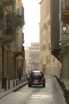 A vintage car in the beautiful capital of Lebanon, Beirut.