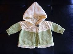 Free Pattern: One Skein Hooded Baby Sweater.