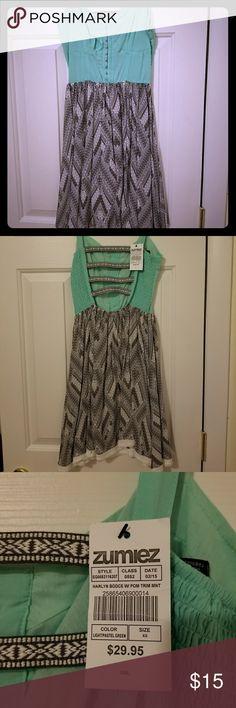 Zumiez Dress Harlyn bodice with pom trim (mint bodice) Zumiez Dresses