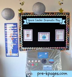 Dramatic Play Space Theme Printables via www.pre-kpages.com