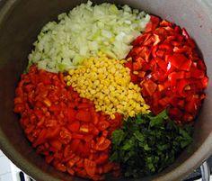 Cobb Salad, Salsa, Food, Syrup, Red Peppers, Essen, Salsa Music, Meals, Yemek
