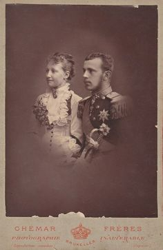Kronprinz Rudolf von Österreich und Stefanie von Belgien als Verlobte | Flickr - Photo Sharing!