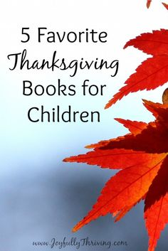 5 Favorite Thanksgiving Books for Children - Here are some great Thanksgiving picture books for children, as compiled by a preschool teacher and mom.