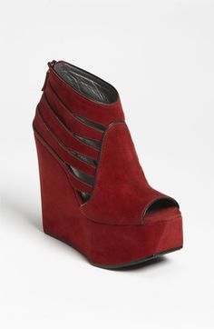 Grey City 'Jett' Wedge Bootie available at #Nordstrom.....i need these NOWWWW.