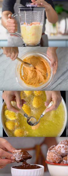 Bolinho de Chuva de Cenoura com Calda de Chuva #bolinho #bolinhodechuva #comida #culinaria #gastromina #receita #receitas #receitafacil #chef #receitasfaceis #receitasrapidas