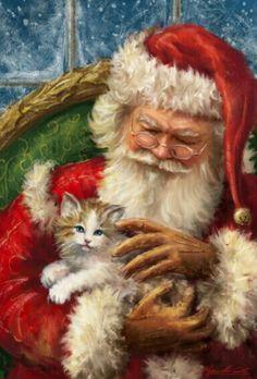 Santa likes Cats.