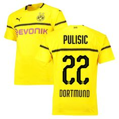 fbb80d808dd Puma Youth Borussia Dortmund Pulisic #22 UCL Jersey (Home 18/19) @  SoccerEvolution