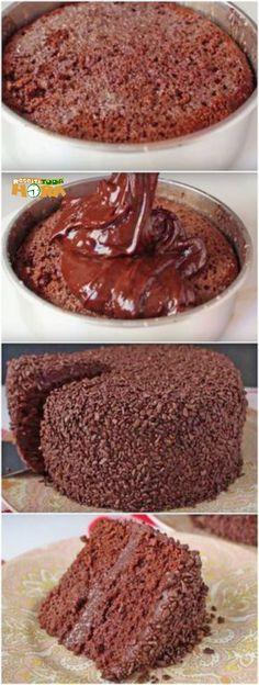 Bolo de Chocolate Molhadinho #BolodeChocolateMolhadinho #BolodeChocolate #BolodeChocolate #Receitatodahora
