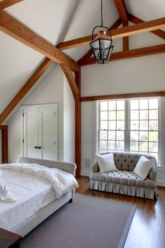 how to create a ceiling in a french barn with beams bedrooms - Google Search