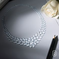A flawlessly designed #diamond necklace will be revealed on July 21st. #HarryWinston #HighJewelry
