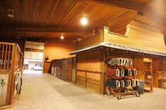 Dreaming of these wide aisles and organized tackroom!