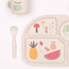 Eat your greens dinner set Green Dinner Sets, Spoon Rest, Tableware, Meal, Dinnerware, Tablewares, Dishes, Place Settings