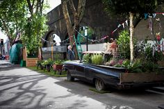 An edible bus stop to a bicycling beer garden: Chelsea Fringe Festival