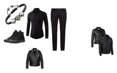 """""""Andys outfit"""" by canwebestupid ❤ liked on Polyvore featuring Dolce&Gabbana, Wilsons Leather, Yves Saint Laurent, Converse, men's fashion and menswear"""