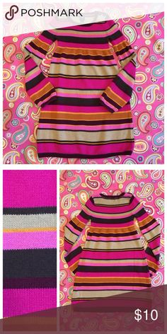 GapKids sweater dress Pinks and Browns. 100% cotton sweater knit dress. Excellent preloved condition. No trades. No PayPal. Gap Dresses Casual