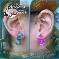 Cheshire Cats Earrings by Nakihra.deviantart.com on @DeviantArt