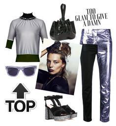 """Too glam to give a damn"" by zabead ❤ liked on Polyvore featuring Roksanda, Haider Ackermann, Alaïa, Sun Buddies and Miu Miu"