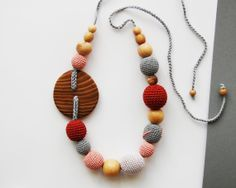 Teething Necklace Elm button by BelRoche on Etsy, $28.63
