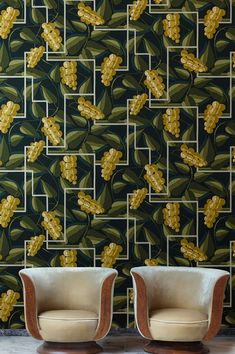 Tropical Wallpaper, Luxury Wallpaper, New Wallpaper, Estilo Art Deco, Decoration, Wall Decor, Inspiration, Make It Yourself, Fruit