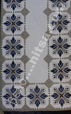 Table runner, simple design but the fabric gives it that sparkle. Hand Embroidery Design Patterns, Embroidery Art, Cross Stitch Embroidery, Cross Stitch Designs, Cross Stitch Patterns, Swedish Weaving Patterns, Peyote Beading Patterns, Palestinian Embroidery, Cross Stitch Boards