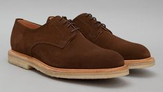 Shoe Porn: A Suede Derby from Sanders