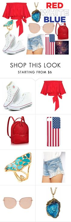 """forth of July!!!!!!!!!"" by jabrown20 ❤ liked on Polyvore featuring Saloni, ASOS and Topshop"
