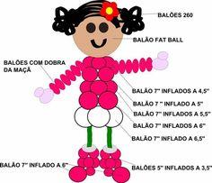Balloons And More, Large Balloons, Balloon Toys, Balloon Animals, Balloon Decorations Party, Birthday Party Decorations, Balloon Birthday Cakes, Baloon Art, Balloon Template