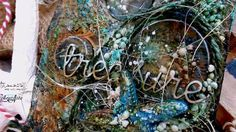 Mixed Media Tag - Painting with Vivid Acrylics and Primary Elements by C...