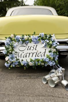 Lemon #wedding car ... Wedding ideas for brides, grooms, parents & planners ... https://itunes.apple.com/us/app/the-gold-wedding-planner/id498112599?ls=1=8 … plus how to organise an entire wedding, without overspending ♥ The Gold Wedding Planner iPhone App ♥