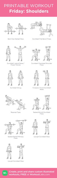 Friday: Shoulders: my visual workout created at WorkoutLabs.com • Click through to customize and download as a FREE PDF! #customworkout