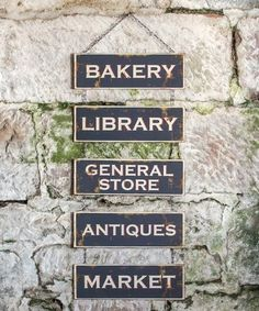 Look what I found on #zulily! Town Building Wall Sign #zulilyfinds