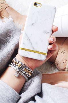 We love the Carrara Marble phone case from Richmond & Finch! #nakdfashion
