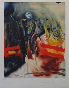 Salvador Dali, A Tribute to Escamillo - Carmen Suite, Signed Lithograph on Paper #Surrealism