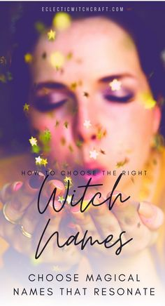 You don't need a witch names generator to choose the best witch names and meanings! Famous witch names in history | evil witch names | celtic witch names | scary witch names | sea witch names | female magical names | famous witches in history | witchy boy names | wiccan witch names | gothic wiccan names | find your true witch name | famous witch names in history | what is a pagan name | norse pagan baby names