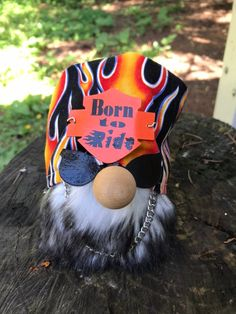 Motorcycle Rider Gnome- Born to Ride- Handmade- Father's Day Gift Idea by BeYoutifulCharms on Etsy Biker Gnomes, Motorcycle Shop, Motorcycle Touring, Motorcycle Quotes, Handmade Father's Day Gifts, Mermaid Boy, Journey Girls, Christmas Gnome, Christmas Crafts