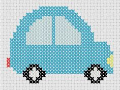 Little Blue Car ... by MelsDaisyPatch | Embroidery Pattern