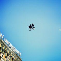 E.T. departing from Union Square. Destination, Home