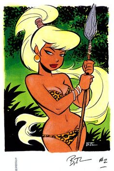 Julie the Leopard Queen (The Maxx) by Bruce Timm