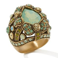 "Heidi Daus ""Damoiselle"" Crystal-Accented Dome Ring"