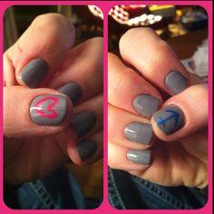 Gray heart + anchor nails ;)