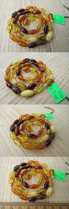 Amber 10191: Genuine Natural Baltic Egg Yolk Honey Multicolored Amber Stones Necklace -> BUY IT NOW ONLY: $35 on eBay!