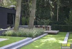 Afbeeldingsresultaat voor tuin met strakke lijnen