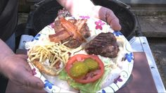 Tenderloin Steak Bacon Burger Recipe By The BBQ Pit Boys -- Watch Barbecue Web create this delicious recipe at http://myrecipepicks.com/1278/BarbecueWeb/tenderloin-steak-bacon-burger-recipe-by-the-bbq-pit-boys/