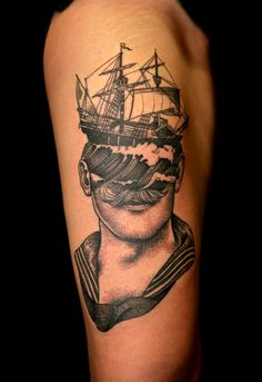 sailor and ship by Pietro Sedda #tattoo #ink