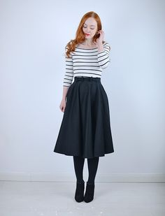 Definitely have a thingf for midi skirts
