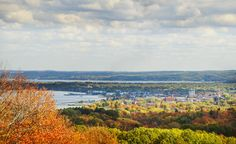 Downtown Traverse City during the fall