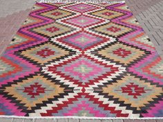 turkish kilim boho rug